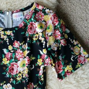 LuLaRoe NWOT Roses Amelia Dress